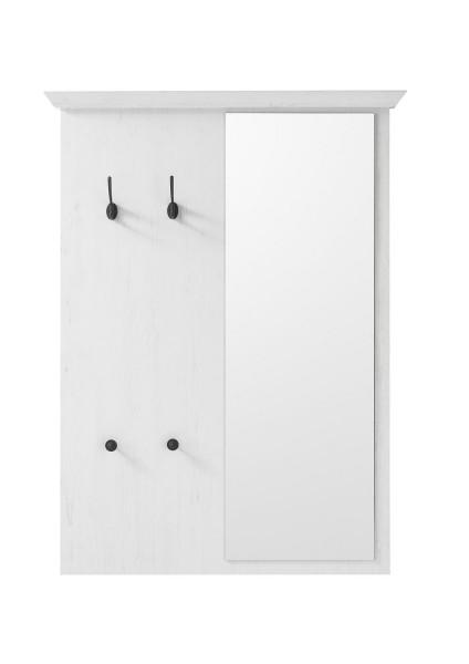 """Garderobenpaneel, Garderobe """"Feres""""- Pinie Weiss Nachbildung, 105x140cm"""