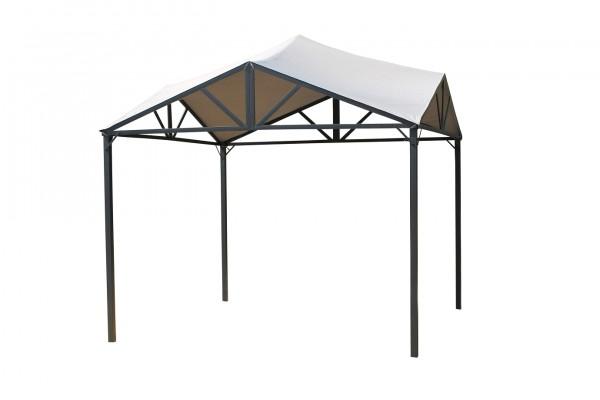 """Pavillon """"Bali"""" anthrazit lichtgrau Polyester 300x300x295cm Sonnendach Dach"""