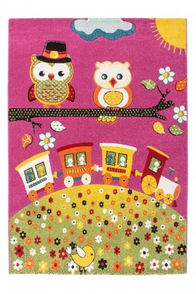 "Beauty.Scouts Kinderteppich ""Eulen Express"" pink, 120x170 cm, 160x230 cm, Kinderzimmer, Spielzimmer"