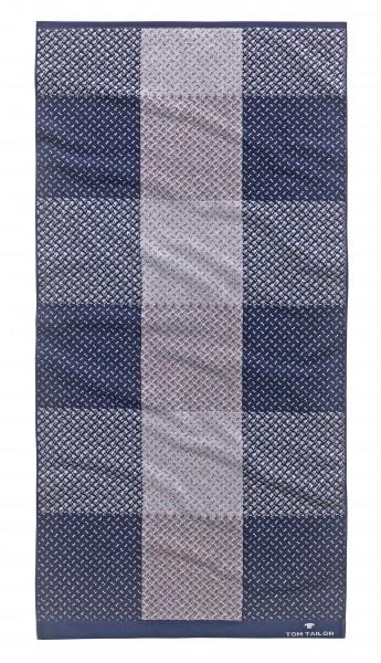 """Tom Tailor Handtuchset """"Brisbane"""", 2er-Set, 50 x 100 cm, navy"""