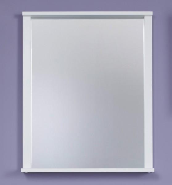 """Spiegel """"Ole"""", weiß Melamin, Badezimmerspiegel, Spiegel mit Ablage, 63 x 78 x 12 cm"""