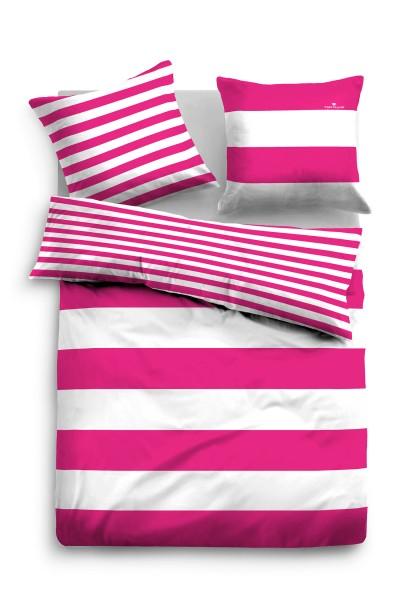 "Tom Tailor Linon-Bettwäsche ""Vera"", pink"