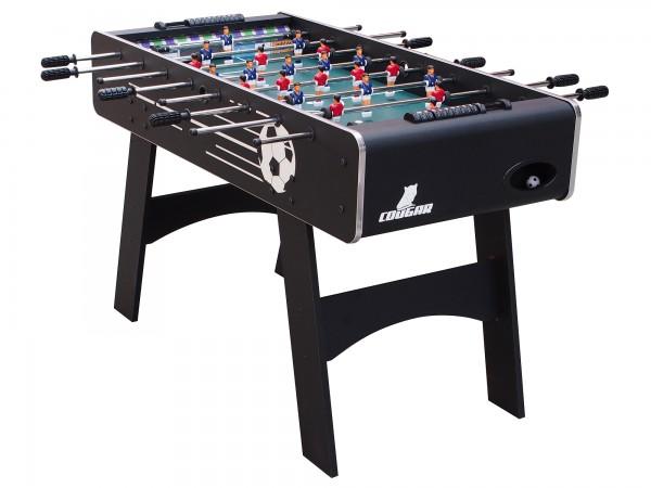 """Fußballtisch """"Nemar"""" aus Holz in schwarz 126x61x81cm Tischfussball Kicker"""