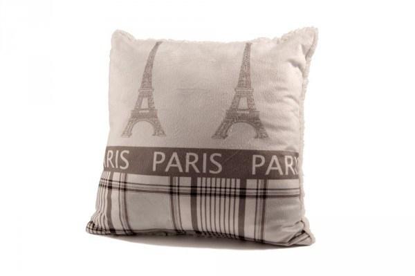 """Beauty Scouts Kissen Zierkissen """"Paris"""" Lammfell-Optik 40x40cm"""