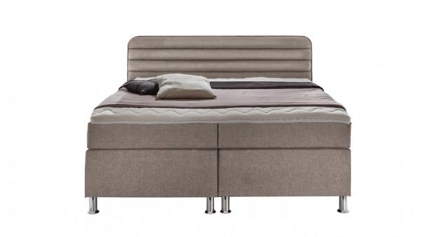 """Boxspring-Bett """"Lisa"""" 180x200cm, beige, Wendematratze, verschiedene Ausführungen"""