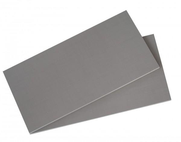 "Einlegeböden Set ""Plus"", 2-tlg, grau, für Schränke ab 2m Höhe, Rastermaß 110cm, 110x2x50 cm"