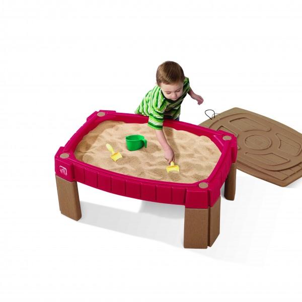 "Sandkasten ""Talke"" rot aus Kunststoff 66x91,4x41,6cm Sandkiste"