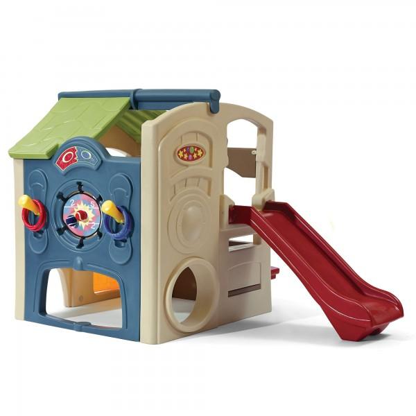"""Kinderspielhaus """"Klaus"""" aus Kunststoff 161,3x213,4x147,3cm bunt Spielecenter"""
