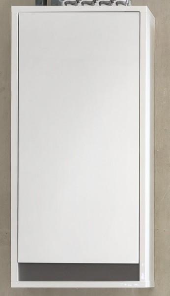 "Hängeschrank ""Tanja"", weiß/grau, Badezimmerschrank, 35 x 73 x 23 cm"