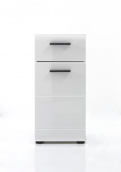 """Kommode """"Laurenz"""", 30 x 79 x 31 cm, weiß/weiß HG, Badschrank, Unterschrank, Badezimmer"""
