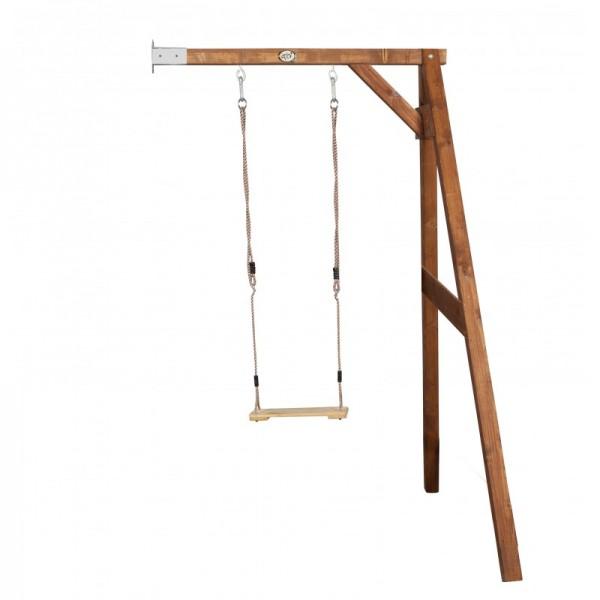 """Anbauschaukel """"Bend"""" Schaukel Hemlock Holz braun 160x171x207cm Einzelschaukel Holzschaukel"""