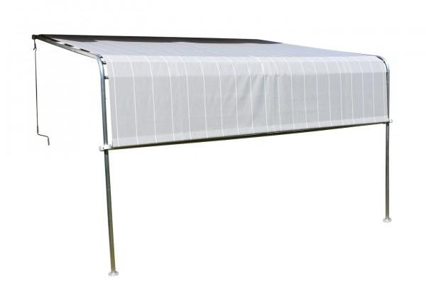 """Terrassenüberdachung """"Emma"""" anthrazit Stahlrohrgestell Polyester 400x300x260cm Sonnendach Überdachun"""