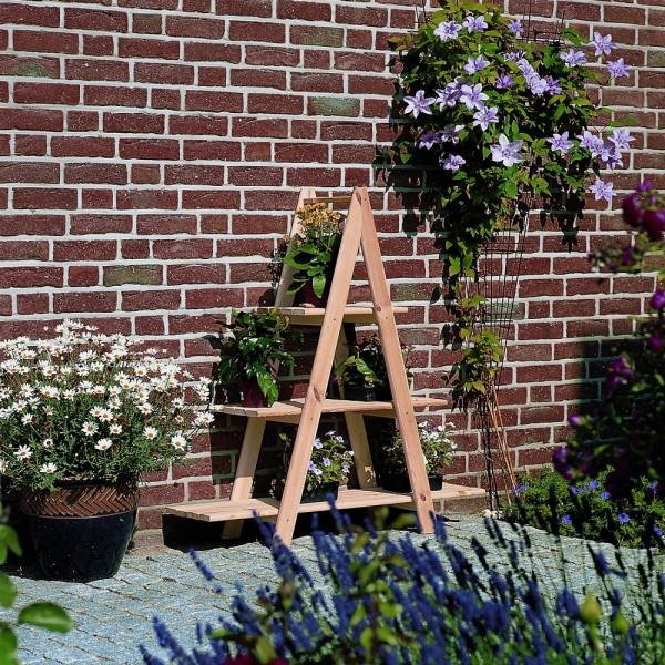 """Blumenleiter """"Paloma"""", Kiefer, natur, 101x31x112cm, Dekoleiter, Kräuterleiter, Dekoration, Garten"""
