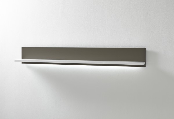 """Wandboard """"Bindian I"""" weiss 184x25x22cm opt. Beleuchtung Wandpaneele Schweberegal"""