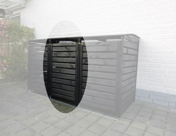 """Erweiterung für die Doppelmülltonnenbox """"Sabrina III"""" antharzit Kiefernmassivholz 92x70x122cm"""