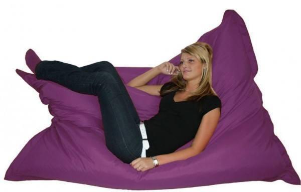 """Kinzler Sitzsack """"Titan"""" XXL Indoor & Outdoor geeignet 140x180cm in verschiedenen Farben"""