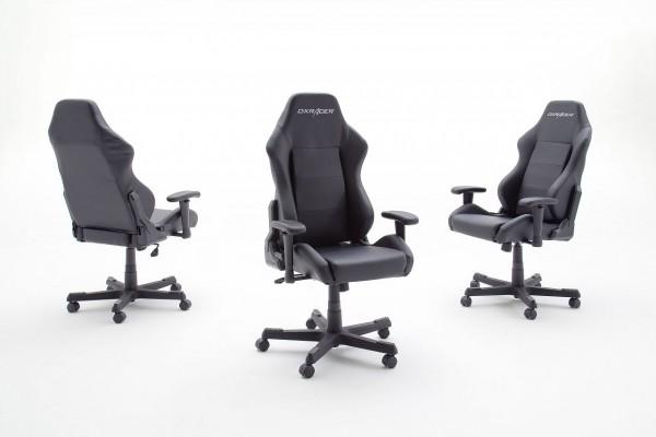 "racing, Chefsessel ""Limitless I"" schwarz,74x119x50cm, Sitzhöhe 43-52 cm"