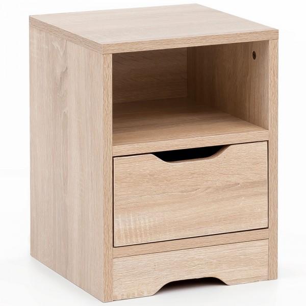 "Nachttisch ""Jenny"" braun Sonoma Eiche Holznachbildung 31x43x31cm Nachtkonsole"
