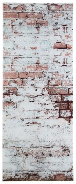 """Spiegelprofi 76095014 Glasgarderobe FELIX Glasgarderobe """"Ziegelsteinmauer"""", 50x125x6 cm, Garderobe, Kleiderhaken"""