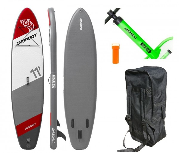 "Stand-Up-Paddle ""Adventure Sport No.8"" rot grau 335x75x15cm SUP Paddling"