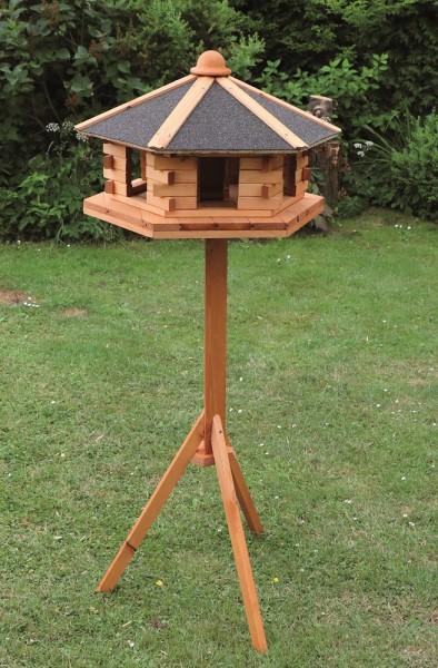 """Vogelhaus """"Kathleen"""", Kiefer, 59 x 141 cm, inkl. Standfuß, Vogelhäuschen, Gartenvogelhaus, Garten"""