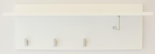 "Wandgarderobe ""Henny"", 25 x 70 x 22 cm, weiß HG, Garderobe, Flurgarderobe, Flur"