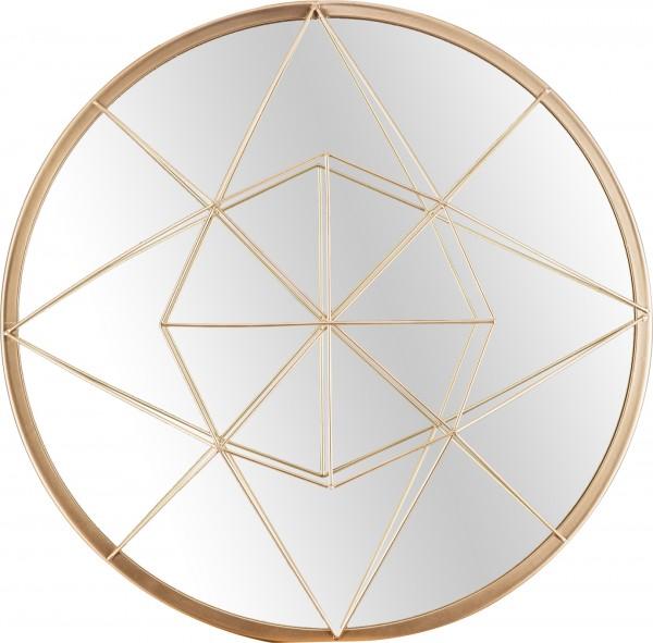 """Spiegelprofi 61124406 Franka X Metallspiegel """"Juwel"""", golden, ca. Ø 40cm Spiegel"""