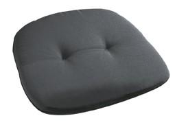 "Monoblocksitz Polsterauflage Sesselauflage Stuhlauflage ""Euginia Anthrazit"" 45x45x5cm"