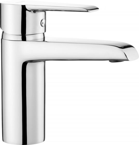 """DEANTE Badezimmerarmatur """"Fresh"""" Einloch-Waschbeckenarmatur stehend silber Hochglanz modern"""
