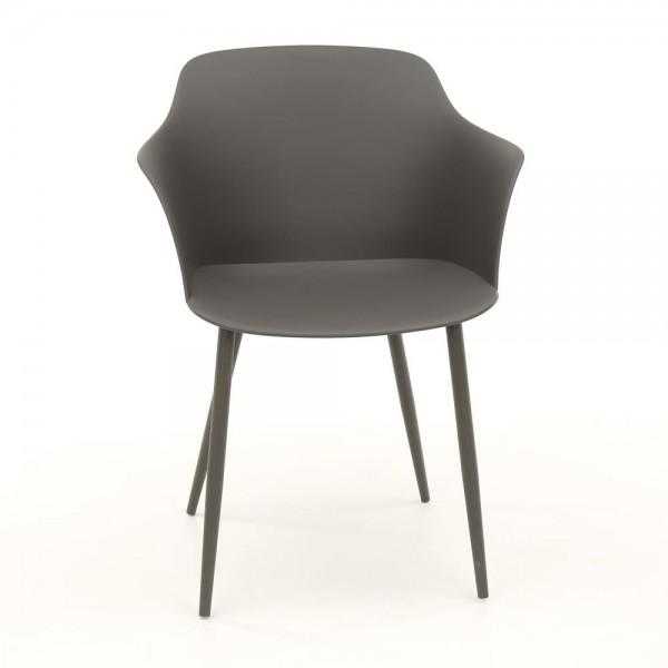 """Zijlstra 3645-48 grau Schalensitz Kunststoff VPE 4 4er Set Schalensitz """"Tory"""" grau Pulverbeschichtung 59x51x82cm (B/T/H) Schalenstuhl Stuhl"""