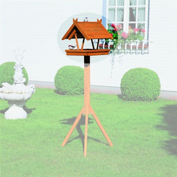 """Vogelhaus """"Marlina"""" Holzkasten imprägniert honigbraun 38x42x36cm Vogelhäuschen"""