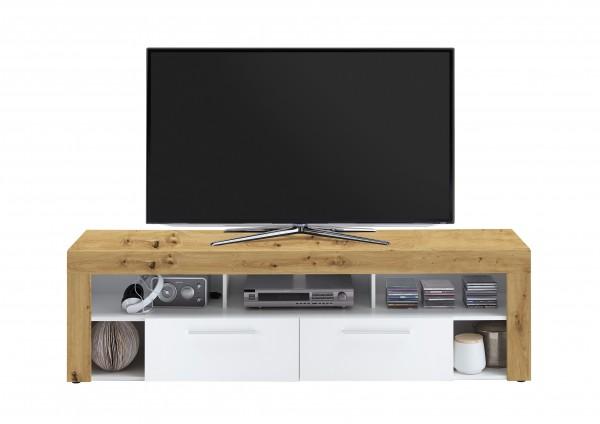 """TV-Lowboard """"Thor"""" Aristan Eiche weiß  in 180x53x41,5cm TV-Board Fernsehtisch"""