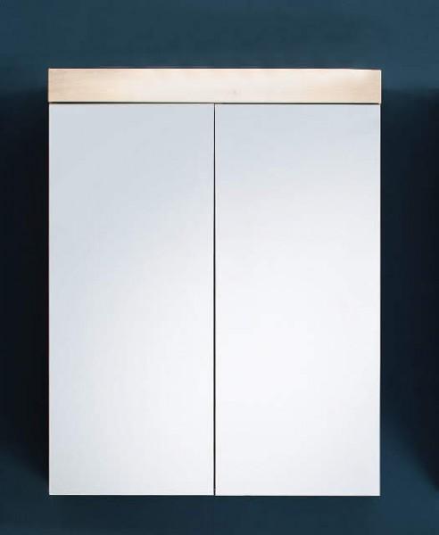 """Spiegelschrank """"Ludwig"""", 60 x 77 x 17 cm, Asteiche Dekor, Badezimmerschrank, Spiegel, Badezimmer"""