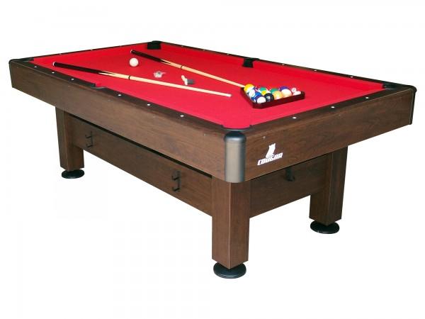 "Billardtisch ""Will"" in braun aus Holz 79x228x128cm Pool-Table"