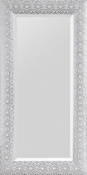 "Rahmenspiegel ""Leila"" weiß silber 75 x 150 cm Wandspiegel Spiegel Wanddekoration"