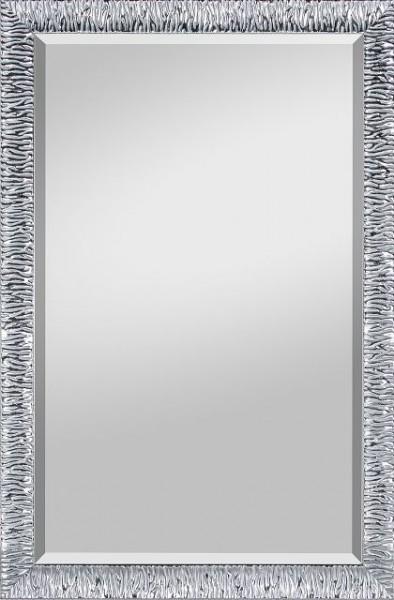 Beauty Scouts Spiegel Wandspiegel Rahmenspiegel Emma Chromfarbe mit Facette 47x67 cm
