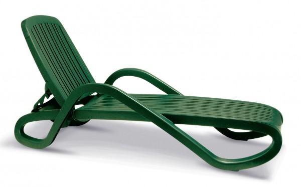 """Stapelliege """"Tim"""" 71x195x30/40cm Kunststoff grün Gartenliege Gartenmöbel Sonnenliege Garten"""
