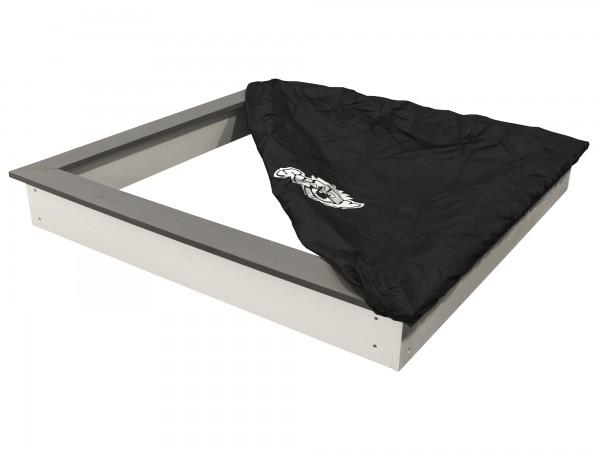 """Sandkasten """"Sia"""" grau-weiß aus Fichtenholz 126,8x126,8x17cm mit Abdeckung"""