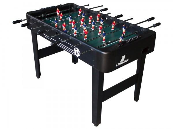 """Fußballtisch """"Messi"""" aus Holz in schwarz 122x61x79cm Tischfussball Kicker"""