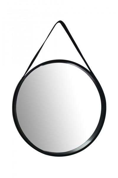 """Wandspiegel """"Sina"""" schwarz schlicht modern elegant 3,5-7,5x49,5x49,5cm Spiegel"""