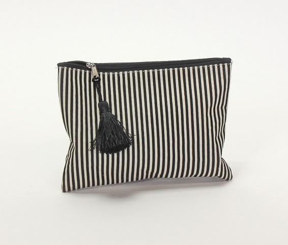 """Mäppchen Kosmetiktasche """"Stripes"""" 21x15 cm schwarz weiss"""