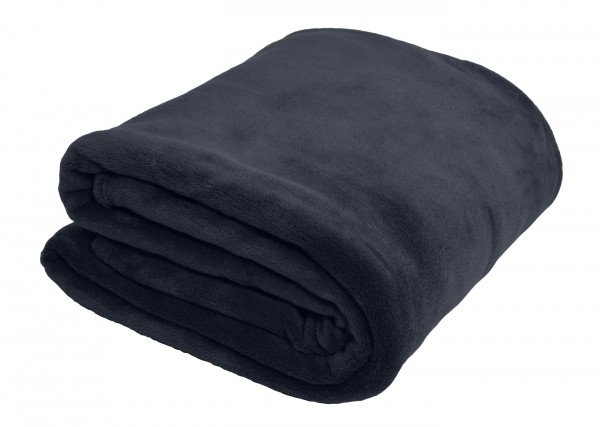 "Wohndecke ""Elisa"" grau schwarz dunkelbraun 150x200cm Antistatik Decke"