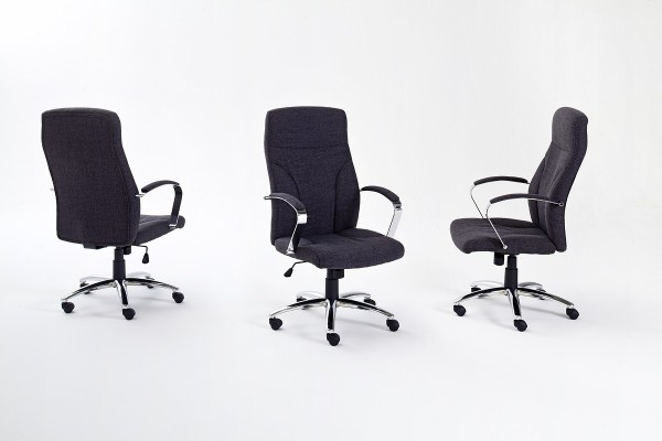 "Chefsessel ""Osmo"" schwarz, 66x115x69cm, Sitzhöhe 45-55 cm"