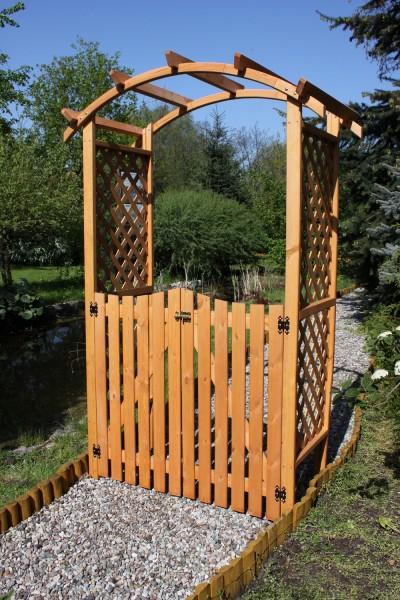 """Türen für Pergola """"Michi"""", Kiefer, honigbraun, 100 x 2,5 x 100 cm, Gartenpergolatüren, Pergolatore"""