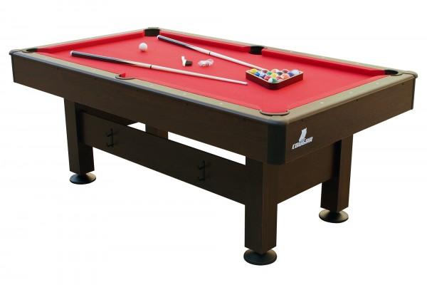 "Billardtisch ""Smith"" in braun aus Holz 204x116x79cm Pool-Table"