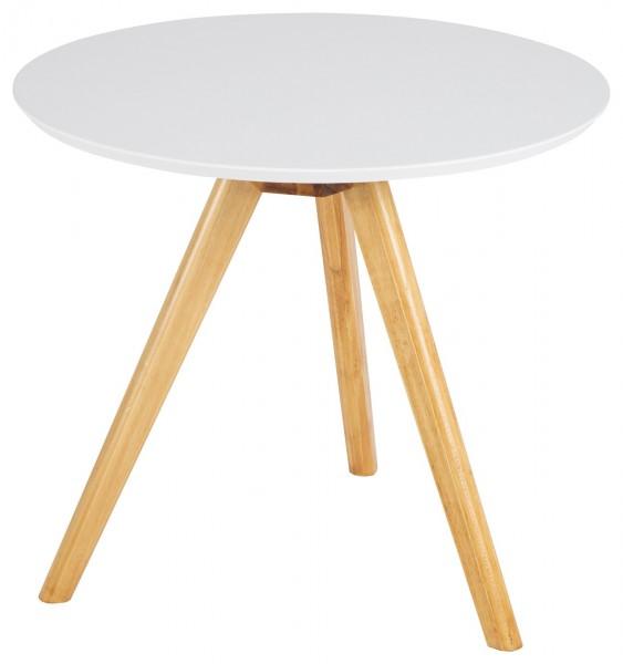 """Beistelltisch """"Bobby"""" weiß Pappel 50x50x45cm Tisch Couchtisch Sofatisch"""