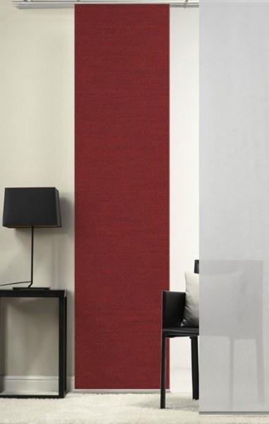 Emotion Textiles 1er Flächenvorhang Schiebevorhang Weinrot incl. Montagesatz