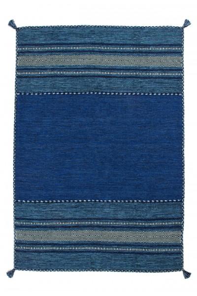 "Beauty.Scouts Kurzflorteppich ""Isar"", handgefertigt, blau, 80x150 cm, 120x170 cm, 160x230 cm, 200x290 cm"