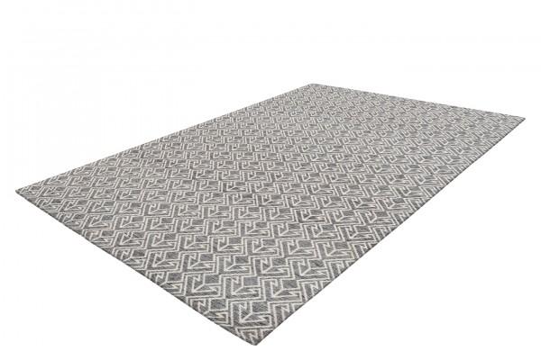 """Teppich """"Linda"""" schwarz weiß modernes Design pflegeleicht Outdoorteppich Indoorteppich"""
