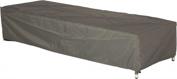 """Schutzhülle """"Julio"""", grau, 75 x 200 x 40 cm, für Liegen, mit Bindebändern und Klettverschluss"""